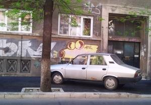 Vedere din București. Aeul și Dacia 1300 de pe Bd. Carol I. Foto cu telefonul: Călin Hera