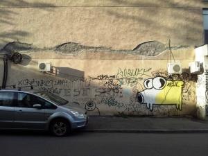 Vedere din București. Aeul de pe Vasile Lascăr. Foto cu telefonul: Călin Hera