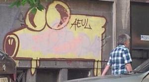 Vedere din București. Aeul de pe Bd. Carol I (detaliu). Foto cu telefonul: Călin Hera