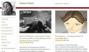 Site-ul Despre Operă. Printscreen
