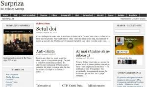 Blogul lui Mihnea Măruță. Printscreen