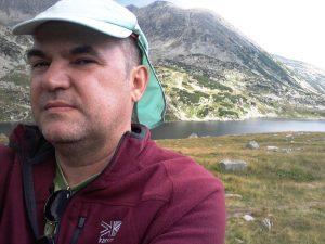 Munții Retezat. Selfie lângă lacul Bucura. Foto: Călin Hera