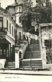 Vedere din București. Strada Xenofon în perioada interbelică. Sursa: designist.ro