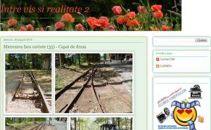 Blogul Între vis și realitate. Printscreen
