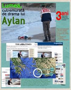 Drama lui Aylan simbolizează criza refugiaților în presa internațională. Sursa: InfoNaiv