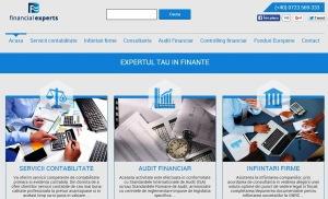 Prima pagină a site-ului FinancialExperts.ro