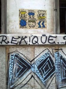 Vedere din București. Graffiti în spatele Bisericii Kretzulescu. Foto cu telefonul: Călin Hera
