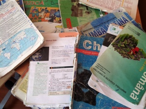 Manuale de clasa a opta aflate la a cincea generație. Foto: Călin Hera