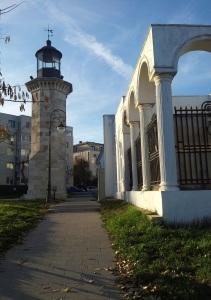 Vedere din Constanța. Farul genovez. Foto cu telefonul: Călin Hera