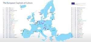 Lista capitalelor europene ale Culturii. Sursa: ec.europa.eu