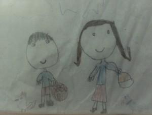 Doi copii desenați cândva de Radu