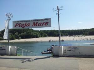 Scări către bacul ce traversează Dunărea spre Plaja Mare din Călărași. Foto cu telefonul: Călin Hera