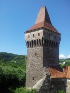 Vedere din Hunedoara. Castelul Corvinilor. Foto cu telefonul: Călin Hera