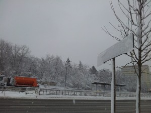 Vedere dintr-un București înghețat. Foto: Călin Hera