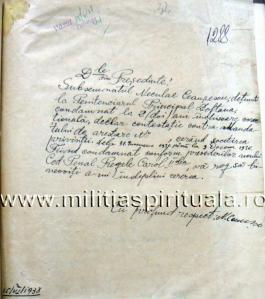 Filă din dosarul Ceaușescu întocmit de Poliția interbelică. Sursa: Miliția Spirituală