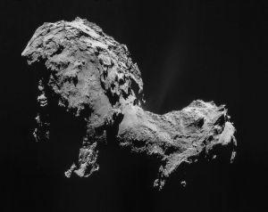 Cometa buclucașă 67P/Churyumov–Gerasimenko. Sursa: esa.int