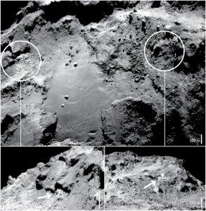Apă pe cometa buclucașă 67P/Churyumov–Gerasimenko. Sursa: esa.int