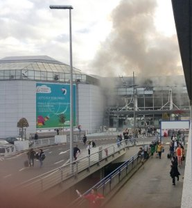 Explozii la aeroportul din Bruxelles. Sursa: twitter