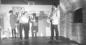 Pe scenă, cu Chinezu. Angela Fileote nu se vede din cauza mea. Foto: Mădălina Barbărasă