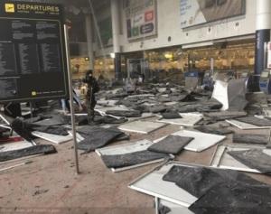 Explozie la Bruxelles. Sursa: twitter