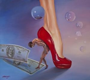 Pantoful roșu, de Zoltan Lorencz. Sursa: Facebook