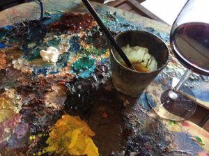Culori și vin cu Zoltan Lorencz. Sursa: Facebook