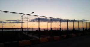 Apus de soare pe Autostrada Soarelui. Foto: Călin Hera