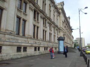 Vedere din București. Palatul de Justiție, dimineața. Foto: Călin Hera