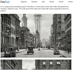 Fotografie de acum 100 de ani dintr-un oraș american. Printscreen: PetaPixel