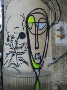 Vedere din București. Portrete graffiti. Foto: Călin Hera