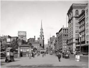 Tremont Street, Boston, 1923. Sursa: Shorpy