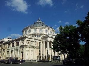 Vedere din București. Ateneul Român văzut dintr-o parte. Foto: Călin Hera