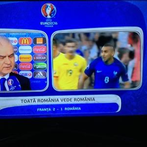 Final de meci Franța-România 2-1