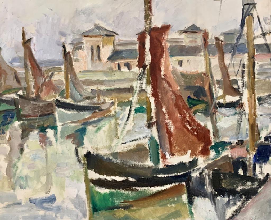 Florența Pretorian_Peisaj cu bărci (1930-1935)