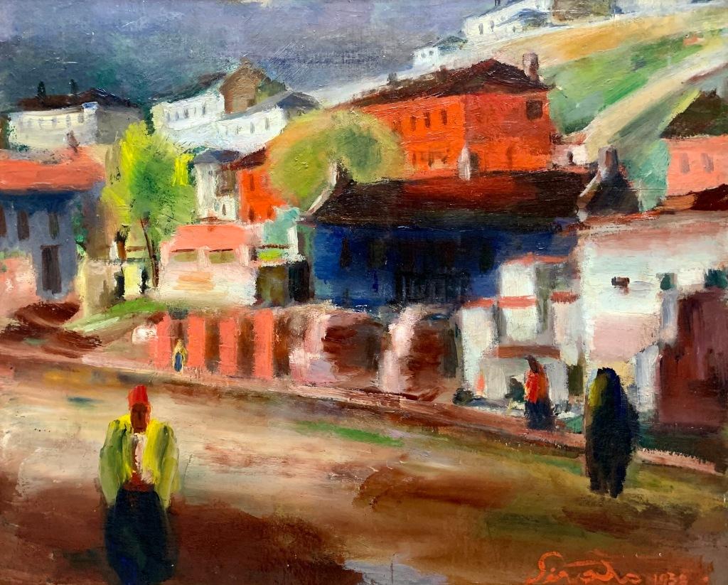 Francisc Șirato_Stradă din Balcic, după ploaie (1938)