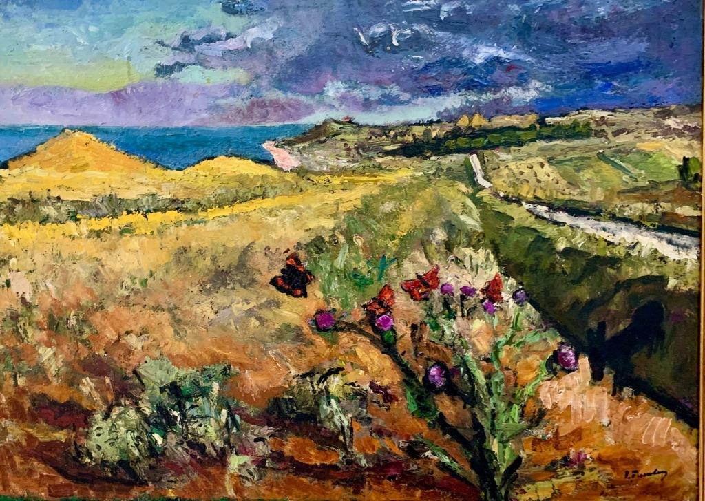 Ion Țuculescu, Peisaj marin cu fluturi (1950-1955)
