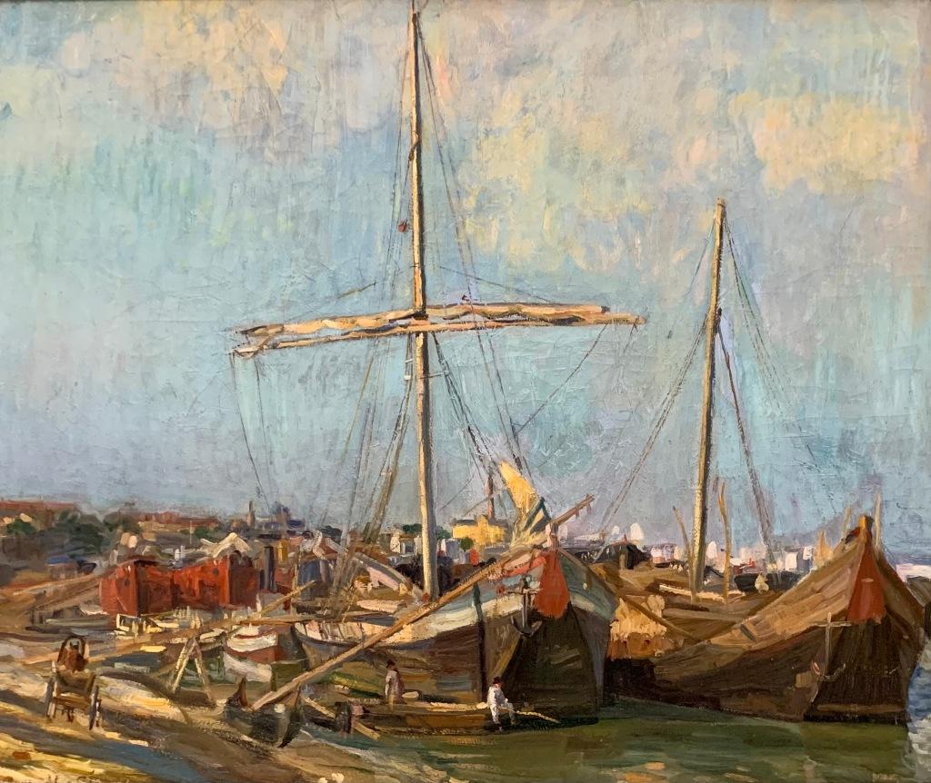 Jean Steriadi_Corăbii în portul Brăila (1909)