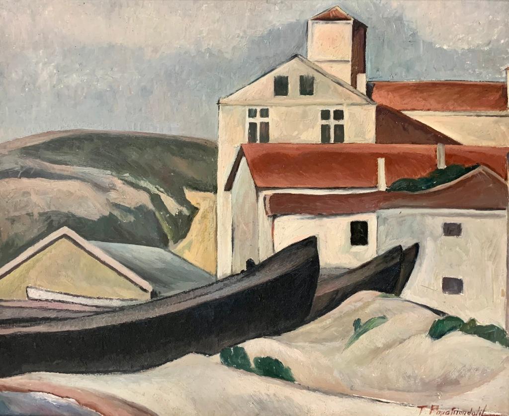 Tache Papatriandafil_Peisaj din Balcic (1927)